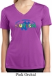 Autism Accept Understand Love Ladies Moisture Wicking V-neck Shirt