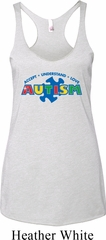 Autism Accept Understand Love Ladies Tri Blend Racerback Tank Top
