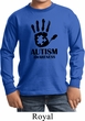 Autism Awareness Hand Kids Long Sleeve