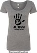 Autism Awareness Hand Ladies Scoop Neck