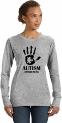 Autism Awareness Hand Ladies Sweatshirt