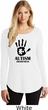 Autism Awareness Hand Ladies Tri Long Sleeve