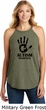 Autism Awareness Hand Ladies Tri Rocker Tank Top