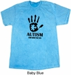 Autism Awareness Hand Mineral Tie Dye T-shirt