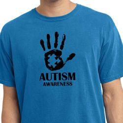 Autism Awareness Hand Pigment Dyed T-shirt
