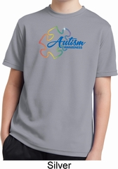 Autism Awareness Puzzle Kids Moisture Wicking Shirt