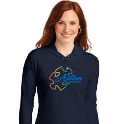 Autism Awareness Puzzle Ladies Hooded Shirt