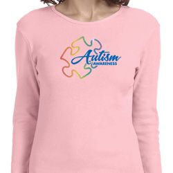 Autism Awareness Puzzle Ladies Long Sleeve Shirt