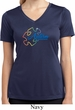 Autism Awareness Puzzle Ladies Moisture Wicking V-neck Shirt