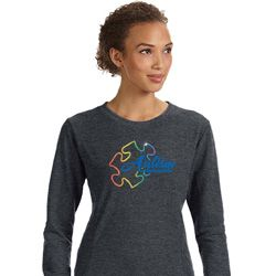 Autism Awareness Puzzle Ladies Sweatshirt