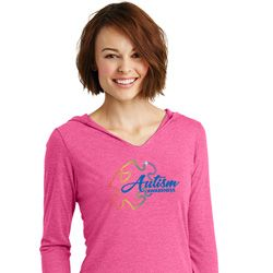 Autism Awareness Puzzle Ladies Tri Hoodie