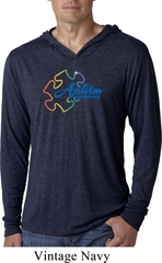Autism Awareness Puzzle Lightweight Hoodie Shirt