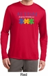 Autism Awareness Puzzle Pieces Dry Wicking Long Sleeve