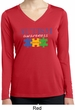 Autism Awareness Puzzle Pieces Ladies Dry Wicking Long Sleeve