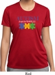 Autism Awareness Puzzle Pieces Ladies Dry Wicking T-shirt