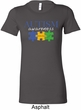 Autism Awareness Puzzle Pieces Ladies Longer Length Shirt