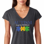 Autism Awareness Puzzle Pieces Ladies Shirts
