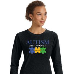 Autism Awareness Puzzle Pieces Ladies Sweatshirt