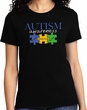 Autism Awareness Puzzle Pieces Ladies T-shirt