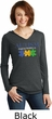 Autism Awareness Puzzle Pieces Ladies Tri Hoodie