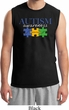 Autism Awareness Puzzle Pieces Muscle Shirt