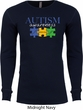Autism Awareness Puzzle Pieces Thermal Shirt