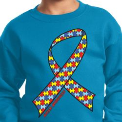 Autism Awareness Ribbon Kids Sweatshirt