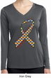 Autism Awareness Ribbon Ladies Dry Wicking Long Sleeve Shirt