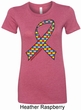 Autism Awareness Ribbon Ladies Longer Length Shirt