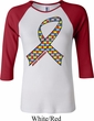 Autism Awareness Ribbon Ladies Raglan Shirt