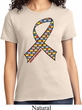 Autism Awareness Ribbon Ladies Shirt