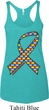 Autism Awareness Ribbon Ladies Tri Blend Racerback Tank Top