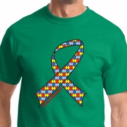 Autism Awareness Ribbon Mens Shirts
