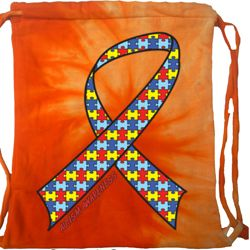 Autism Awareness Ribbon Tie Dye Bag
