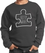 Autism Awareness White Puzzle Kids Sweatshirt