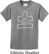Autism Awareness White Puzzle Kids T-shirt