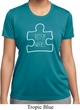 Autism Awareness White Puzzle Ladies Dry Wicking T-shirt