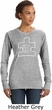 Autism Awareness White Puzzle Ladies Sweatshirt