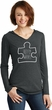 Autism Awareness White Puzzle Ladies Tri Hoodie