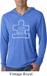 Autism Awareness White Puzzle Lightweight Hoodie