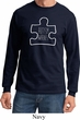 Autism Awareness White Puzzle Long Sleeve