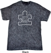 Autism Awareness White Puzzle Mineral Tie Dye T-shirt