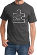 Autism Awareness White Puzzle T-shirt