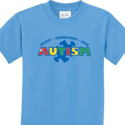 Autism Accept, Understand, Love Kids Shirts