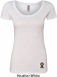 Autism Ribbon Bottom Print Ladies Scoop Neck