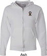 Autism Ribbon Pocket Print Full Zip Hoodie