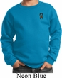 Autism Ribbon Pocket Print Kids Sweatshirt