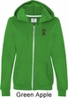 Autism Ribbon Pocket Print Ladies Full Zip Hoodie