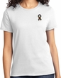 Autism Ribbon Pocket Print Ladies T-shirt