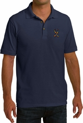Autism Ribbon Pocket Print Mens Pique Polo